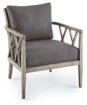 Square Feathers Franklin Armchair Fabric: Monarch Cabo
