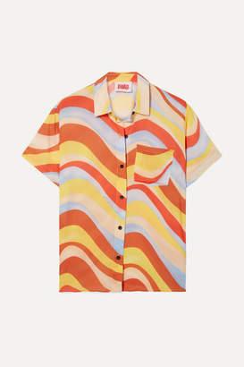 Solid & Striped Cabana Printed Voile Shirt - Orange