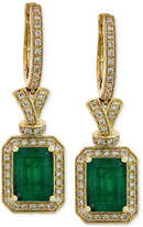 Effy Brasilica by Emerald (2-7/8 ct. t.w.) and Diamond (1/2 ct. t.w.) Earrings in 14k Gold