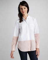 Equipment Reese Colorblock Blouse