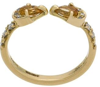 Dubini Theodora Double Drop 18kt gold ring