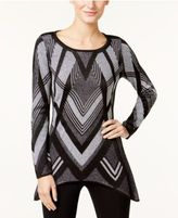 INC International Concepts Petite Handkerchief-Hem Tunic Sweater, Only at Macy's