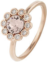Accessorize Rose Gold Flower Ring With Swarovski® Crystals