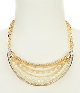 Dillard's Tailored Pave Pearl & Crystal Statement Necklace