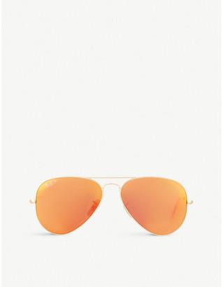 Ray-Ban RB3025 matte pilot sunglasses