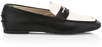 Tod's Two-Tone Leather Driving Loafers