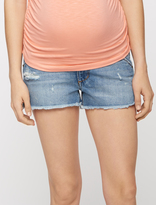 A Pea in the Pod Joe&'s Jeans Secret Fit Belly Fray Hem Maternity Shorts