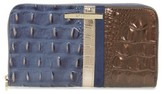 Brahmin Women's Andesite Orba - Suri Zip Around Leather Wallet - Blue