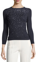 Carolina Herrera Crystal-Embellished Sweater