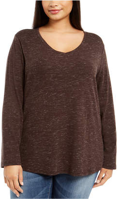 Style&Co. Style & Co Plus Size Melange Top