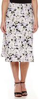 BLACK LABEL BY EVAN-PICONE Black Label by Evan-Picone Print Midi Skirt