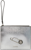 Versus Silver Pin Zip Pouch