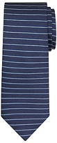 Daniel Hechter Horizontal Stripe Woven Silk Tie