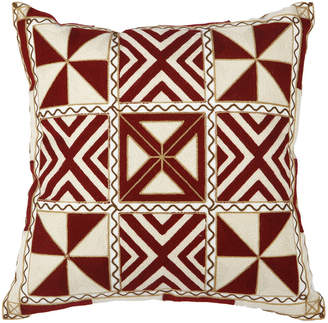 A&B Home Embroidered Pillow