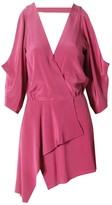 Mason Open Shoulder Mini Dress in Pink