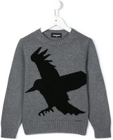 DSQUARED2 bird print sweater - kids - Nylon/Cashmere/Wool/viscose - 6 yrs