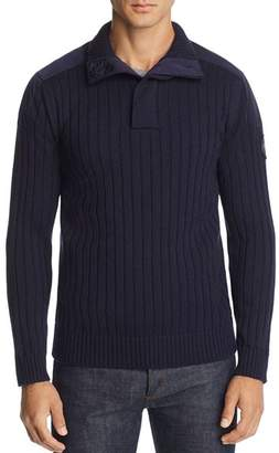 Canada Goose Mixed-Media Ribbed Pullover Sweater