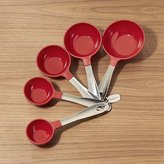 Crate & Barrel Set of 5 Red Stainless Steel Measuring Cups