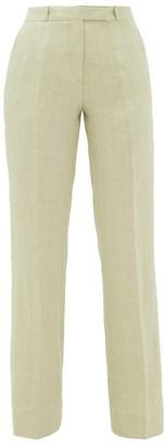 Etro Fuji Linen Trousers - Womens - Beige