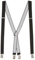 Topman Black Pindot Suspenders