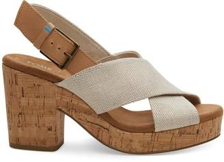 Toms Pearlized Metallic Woven Women's Ibiza Sandals