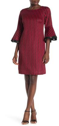 Just For Wraps Polka Print Scuba Dress