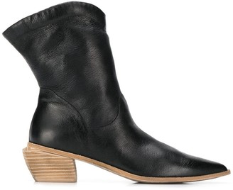 Marsèll pointed angled heel boots