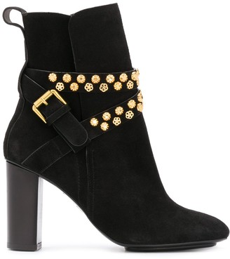See by Chloe Neo Janis stud-embellished ankle boots
