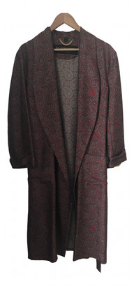 Burberry Burgundy Silk Trench Coat for Women