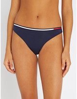 Tommy Hilfiger Stripe-trim mid-rise stretch-cotton thong