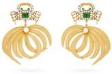 Begum Khan - Crab Opium 24kt Gold-plated Clip Earrings - Womens - Green Gold
