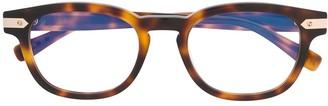 Hublot Eyewear tortoiseshell round-frame glasses