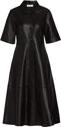 Co Essentials Leather Shirtdress