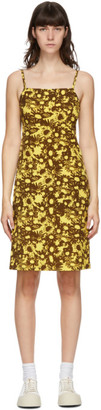 Marc Jacobs Yellow and Brown Heaven by Techno Floral Dress