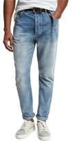 Brunello Cucinelli Leisure-Fit Straight-Leg Denim Jeans, Light Blue