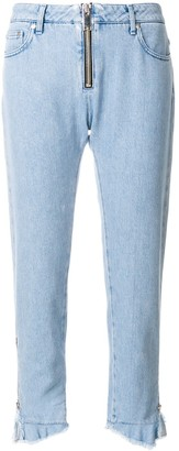 MSGM High Waist Cropped Jeans
