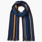 John Lewis Raschel Merino Wool Striped Scarf, Multi