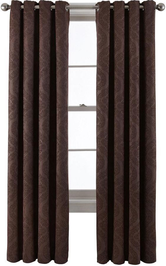 Royal Velvet Barnes Grommet-Top Blackout Curtain Panel