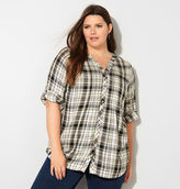 Avenue Neutral Yarn Dyed Plaid Top