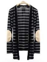 DOKER Women's Casual Drape Front Stripes Long Cardigan Sweater, S