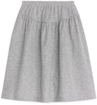 Arket Glittery Jersey Skirt