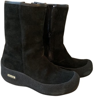 Bally Black Suede Boots