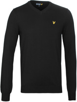 Lyle & Scott True Black Long Sleeve V Neck Sweater