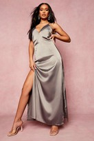 Thumbnail for your product : boohoo Satin Plunge Strappy Back Bridesmaid Dress