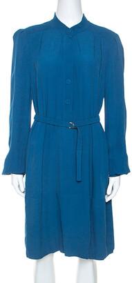Diane von Furstenberg Teal Crepe Long Sleeve Tunisia Dress L