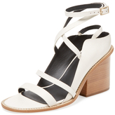 Tibi Faye Leather Block Heel Sandal