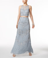 Adrianna Papell 2-Pc. Beaded Gown