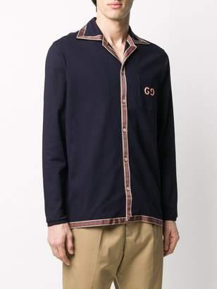 Gucci Long-Sleeved Polo Shirt