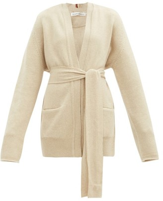 Extreme Cashmere No.154 Care Belted Stretch-cashmere Cardigan - Cream