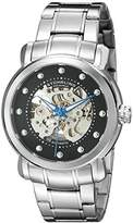 Stuhrling Original Men's Automatic Watch with Black Dial Analogue Display and Silver Stainless Steel Bracelet 644.02